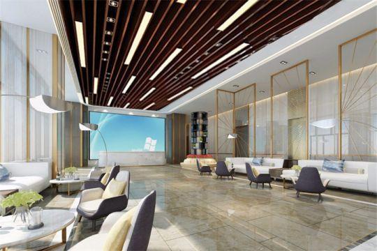 300平现代风格办公楼装修效果图