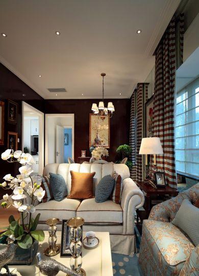 新古典风格70平米两室两厅新房装修效果图