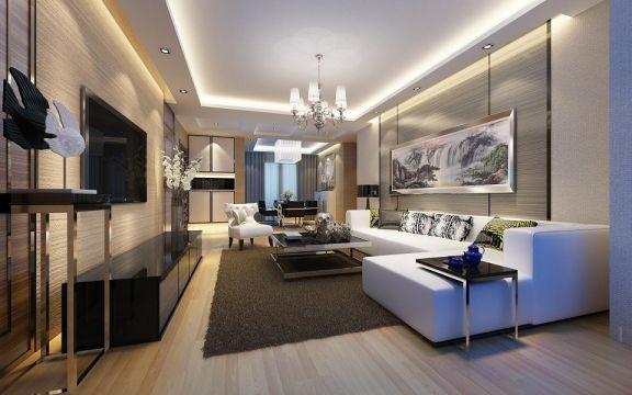 现代简约风格136平米四室两厅新房装修效果图