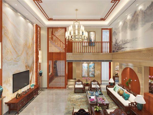 600平米别墅中式风格四合院装修效果图