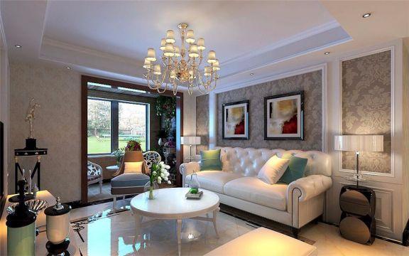 简欧风格114平米楼房室内装修效果图
