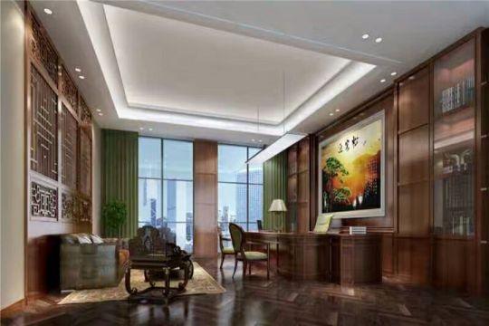 500平中式风格办公楼装修效果图