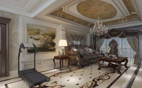 法式风格280平米复式新房装修效果图