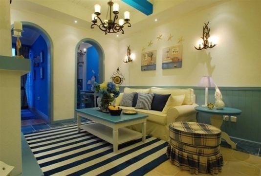 110平地中海风格三居室装修效果图
