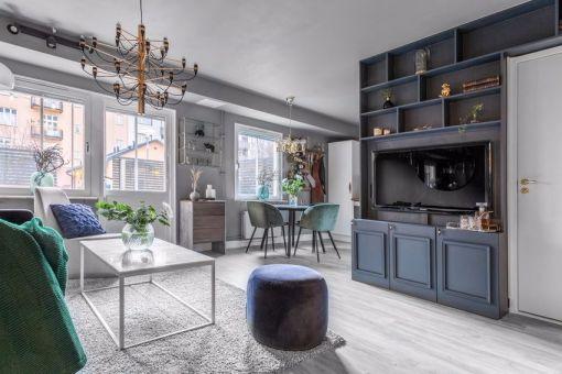 46平米现代风格一居室平房装修案例