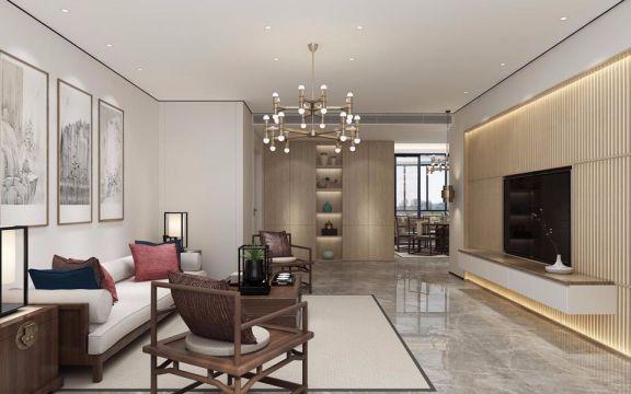 240平新中式复式家居效果图