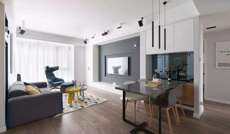 简约风格91平米两室两厅新房装修效果图