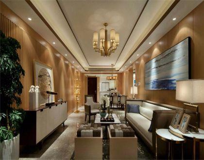 129平中式风三室两厅一卫装修效果图