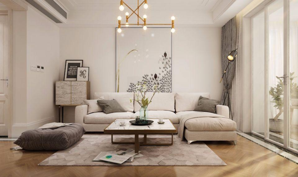 中冶盛世滨江70平简欧风格二居室装修效果图