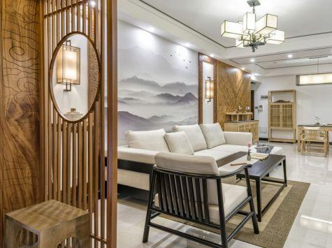 103方新中式风格三居室装修效果图