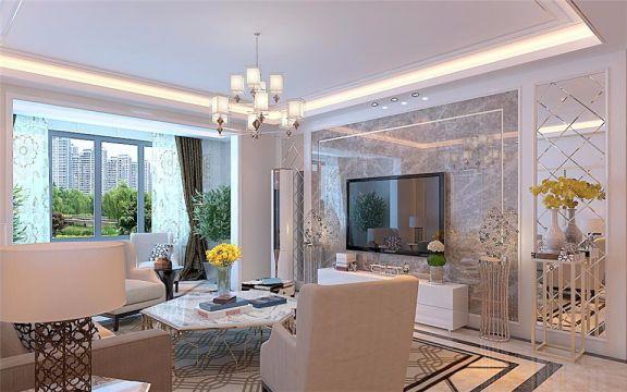 现代简约风格141平米三室两厅新房装修效果图