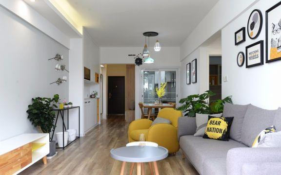 银通公寓80平方北欧风格二居室装修效果图
