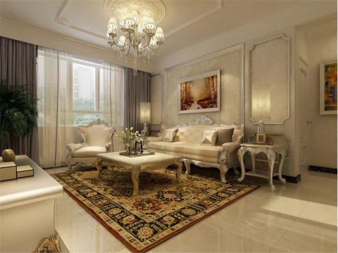 新古典风格100平米两室两厅新房装修效果图