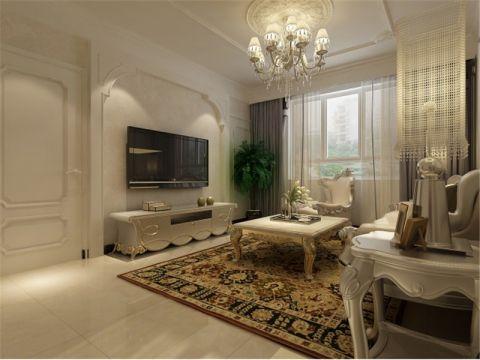 卓达太阳城现代新古典100平米两室两厅装修效果图