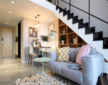北欧风格56平米一居室室内装修效果图