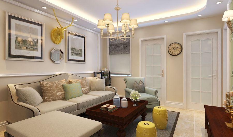 怡园小区-70平-小户型旧房改造-简约风格-装修效果图
