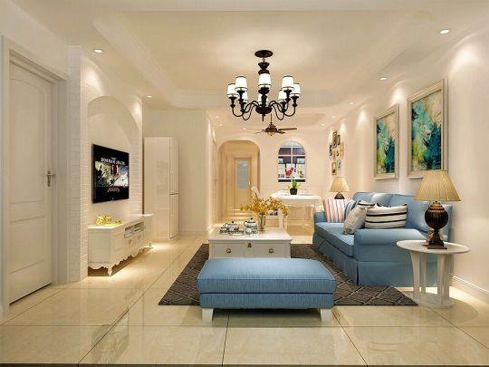 120平地中海风格套房装修案例效果图