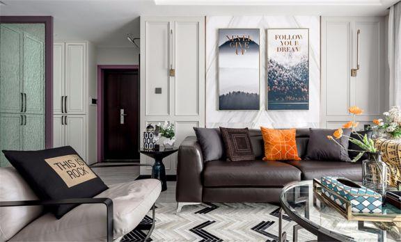 138平米混搭风格三房套房装修案例