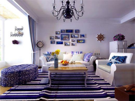 93平米地中海风格两居室装修效果图