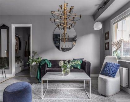 现代风格48平米一居室新房装修效果图