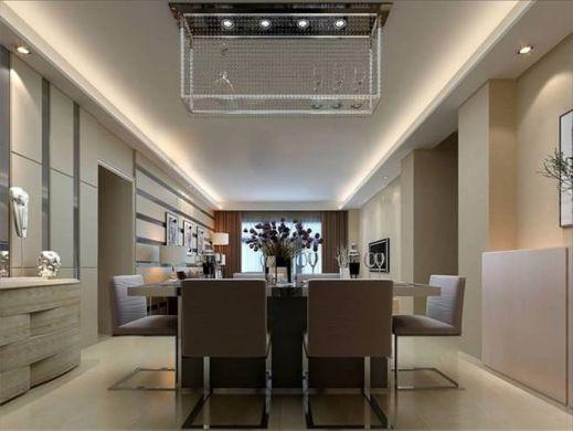现代简约餐厅地砖平面图