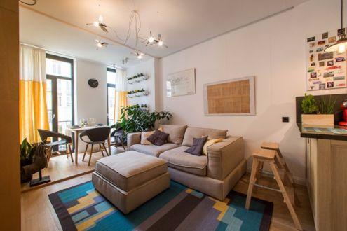 唯美客厅沙发装潢实景图
