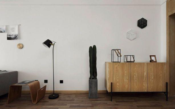 客厅白色细节北欧风格装潢效果图