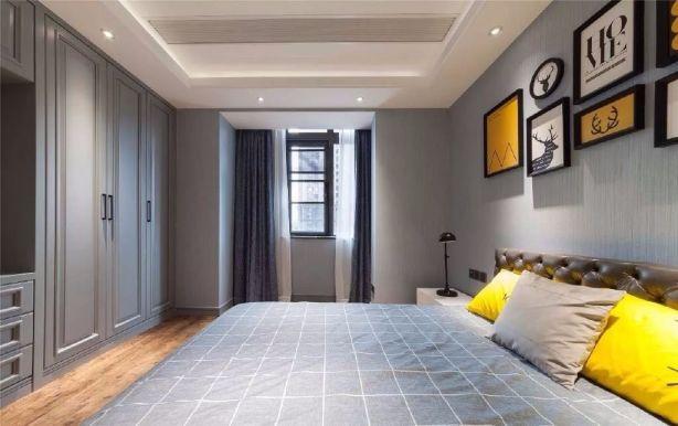 卧室白色衣柜美式风格装修效果图