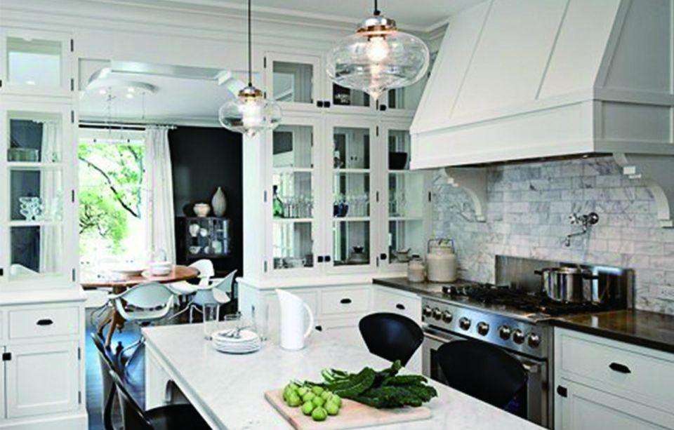 厨房白色厨房岛台美式风格装修设计图片