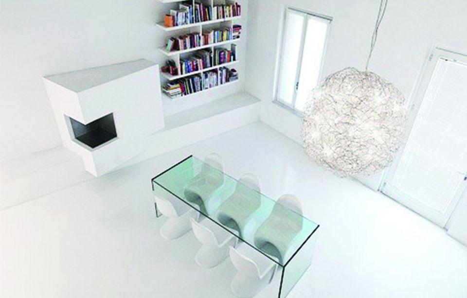 客厅彩色书架现代简约风格装修效果图