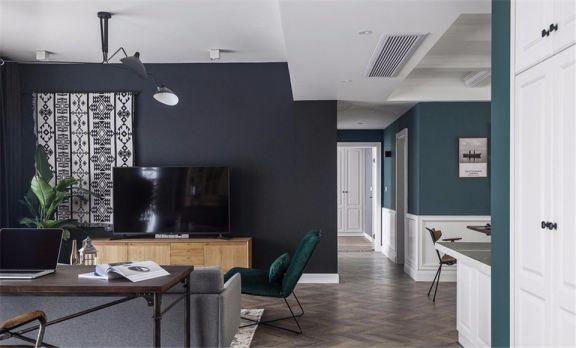 135平米混搭风格两房套房装修案例效果图