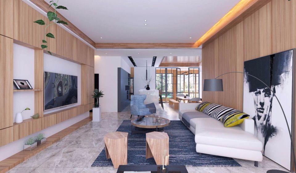 美的林城147平米北欧轻奢风四居室装修效果图