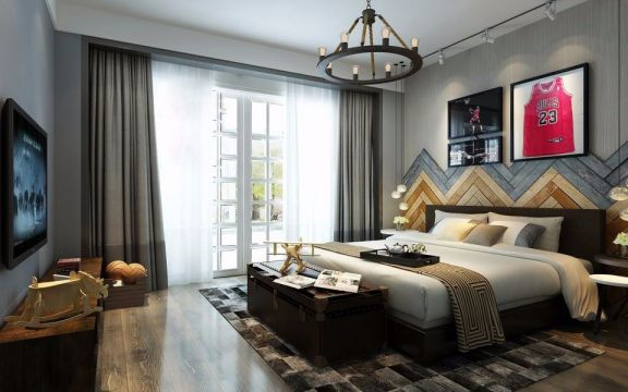 卧室灰色现代风格装潢效果图