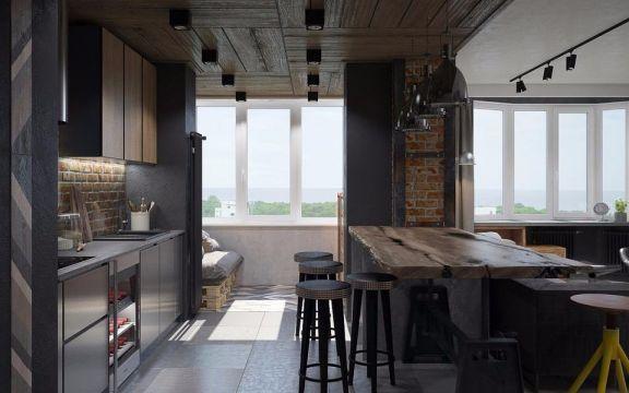 餐厅咖啡色现代风格装修图片