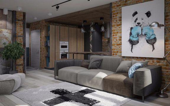 客厅灰色现代风格装修设计图片