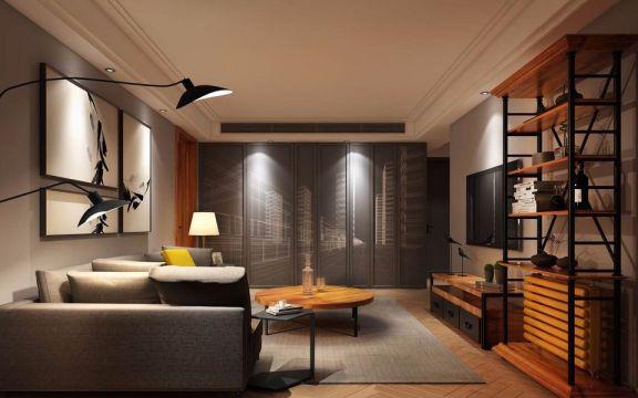 混搭   二居室   98平米   10万装修效果图