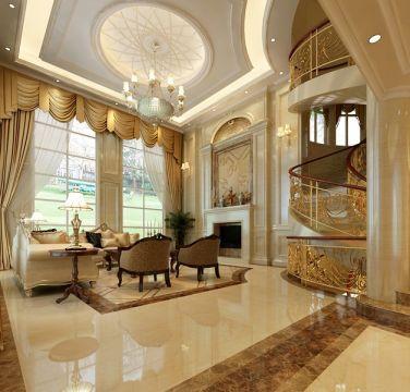 320平欧式别墅客厅装修效果图
