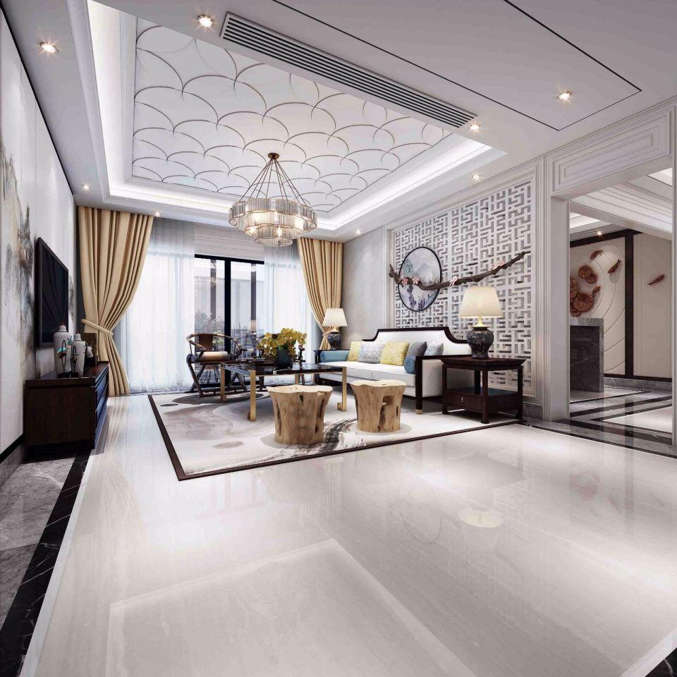 160平方新中式风格套房效果图