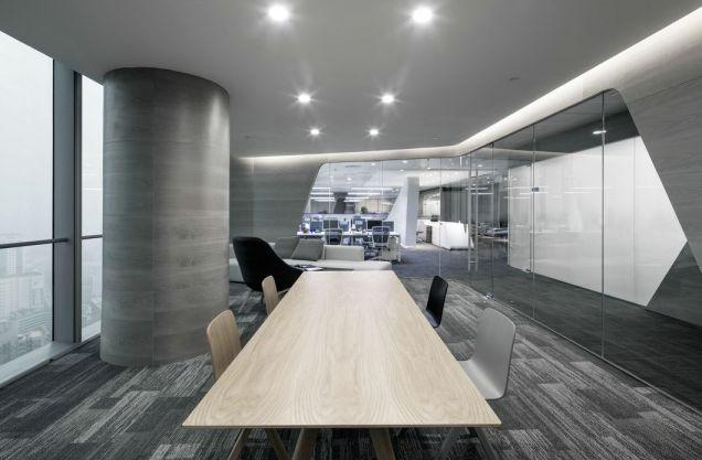 500平现代风格办公空间效果图