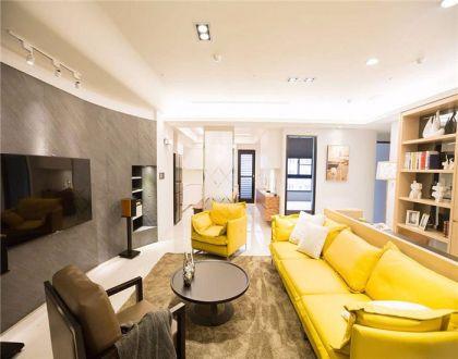 简约风格108平米三室两厅新房装修效果图