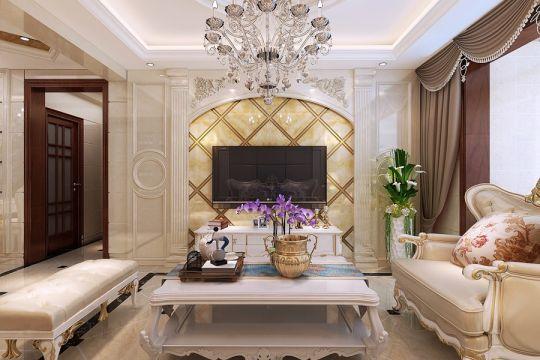 80平米欧式二居室装修效果图