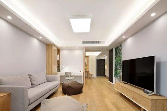 日式风格97平米三室两厅新房装修效果图
