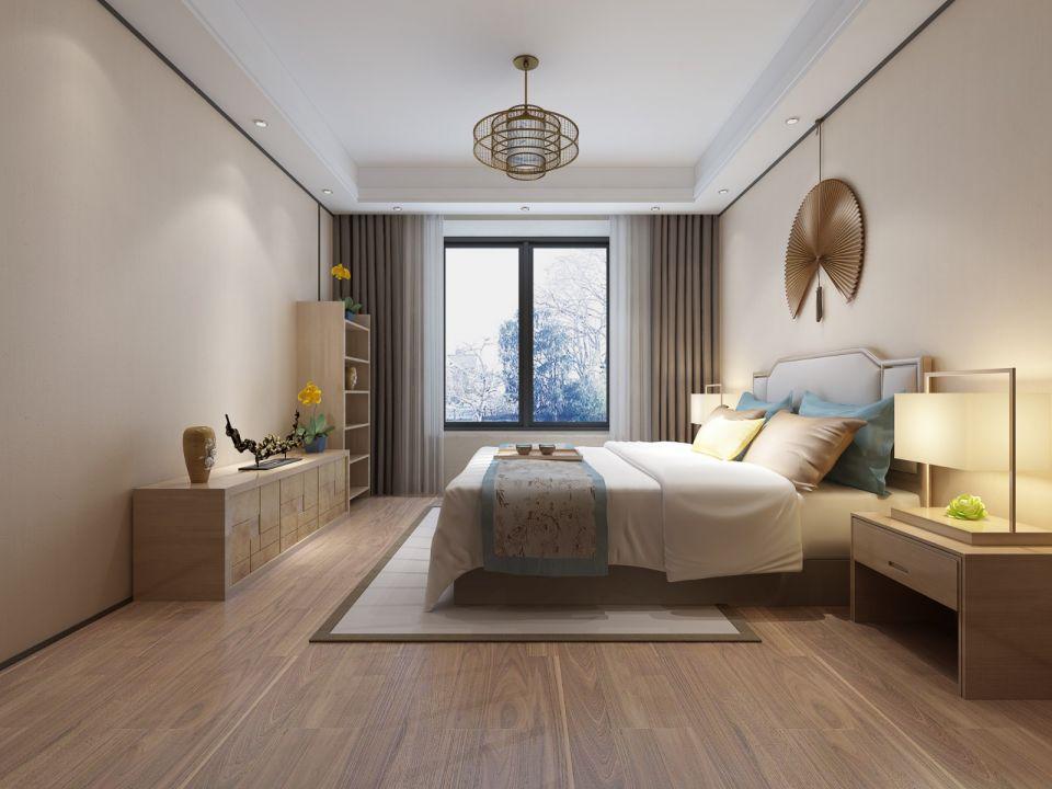 日式风格200平米四室两厅新房装修效果图