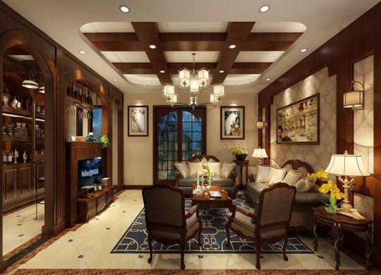 美式风格400平米别墅新房装修效果图