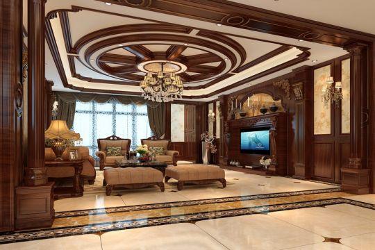 古典风格318平米别墅新房装修效果图
