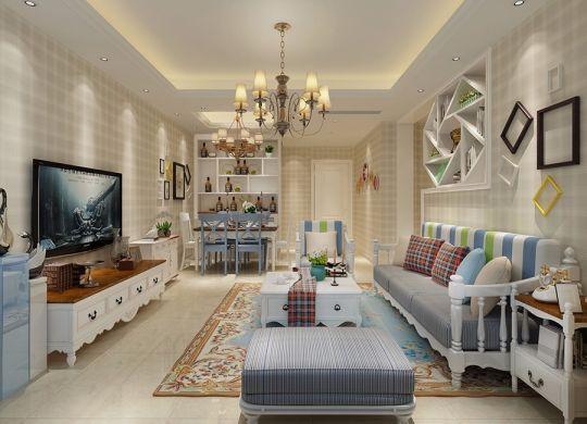 田园风格80平米新房二居室装修效果图