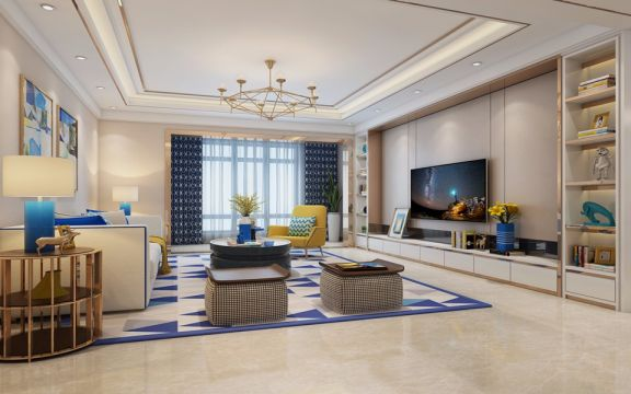 现代风格170平米套房新房装修效果图