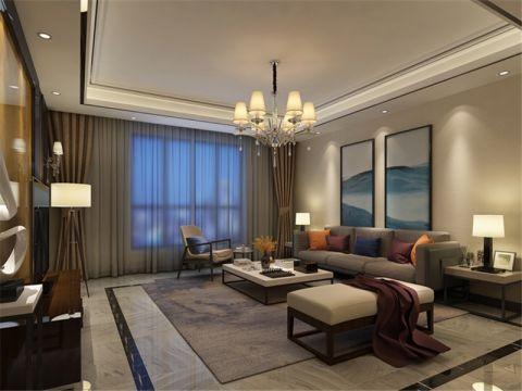 合肥翡丽城139平现代简约风格四居室装修效果图