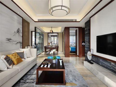 合肥望湖城130平新中式风格四居室装修效果图