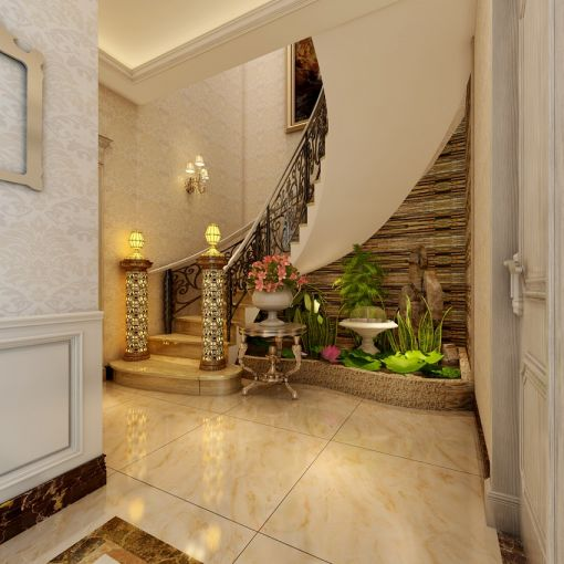 玄关楼梯欧式装饰设计